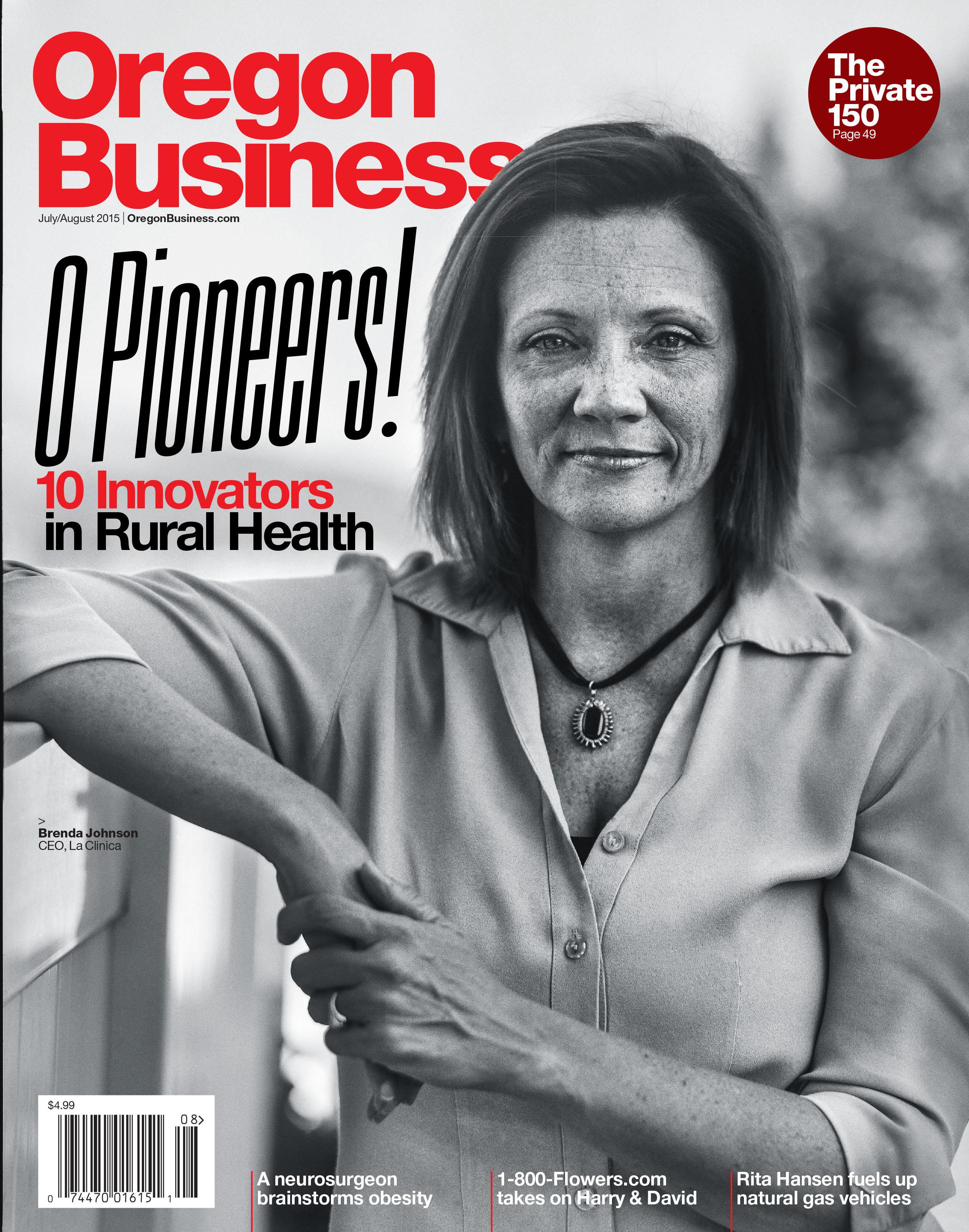 Oregon Business Magazine Cover July/Aug 2015