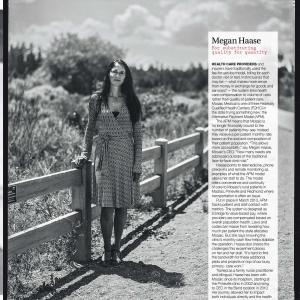 Megan Hasse, Mosaic Medical CEO outdoor environmental portrait.