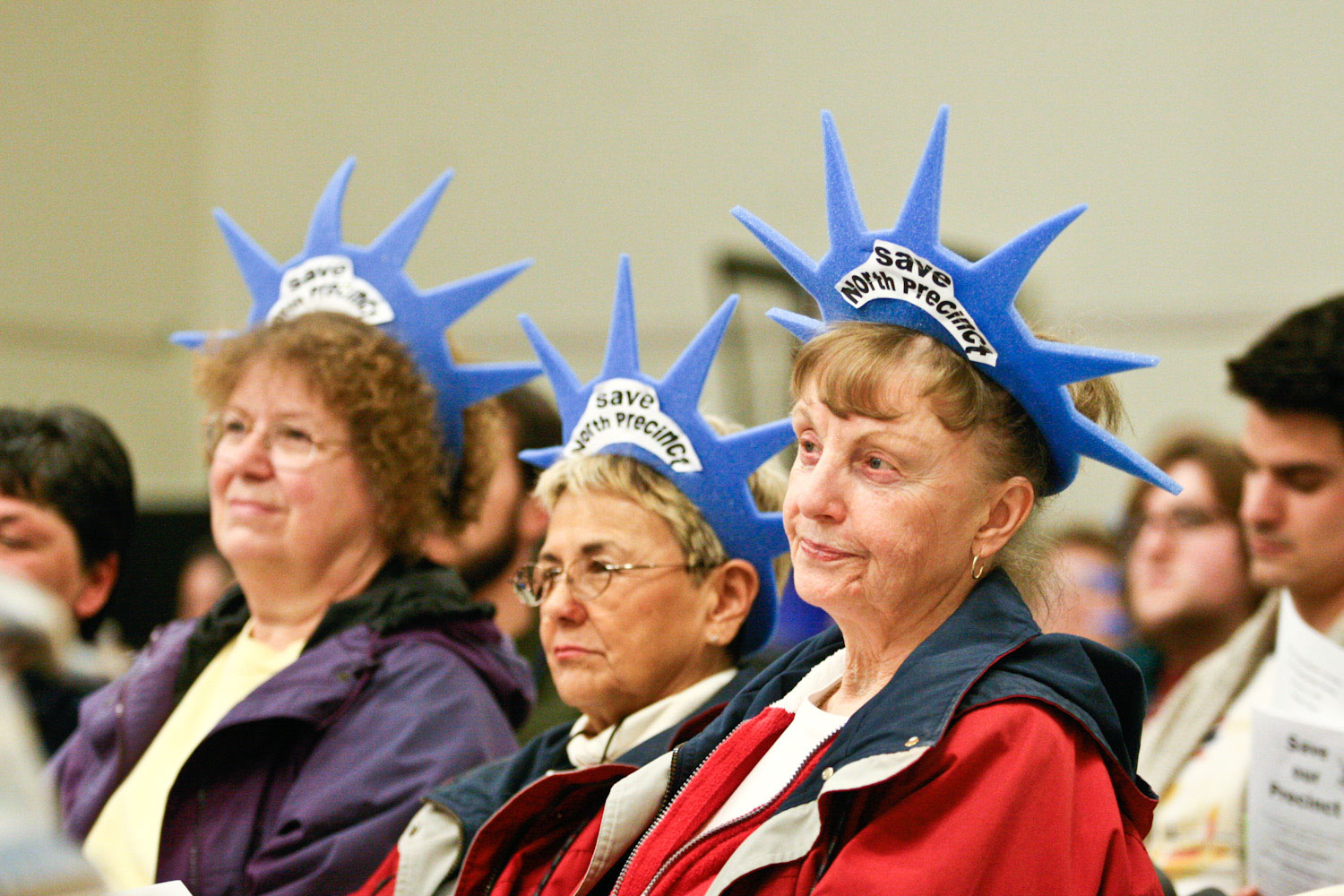 Supporters of North Precinct gather at the St. John's Community Center