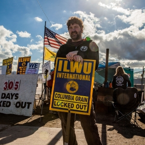 Man Striking duringColumbia Grain Lockout