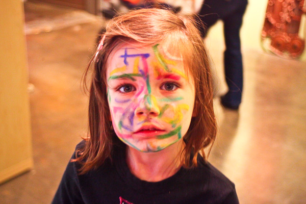 Little with face paint