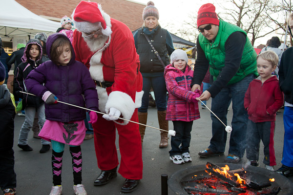 roasting marshmallows santa claus