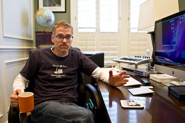 Will Winter sitting at desk